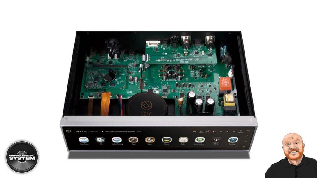 henley audio hifi rose music streamer RS150-Silver-Inside