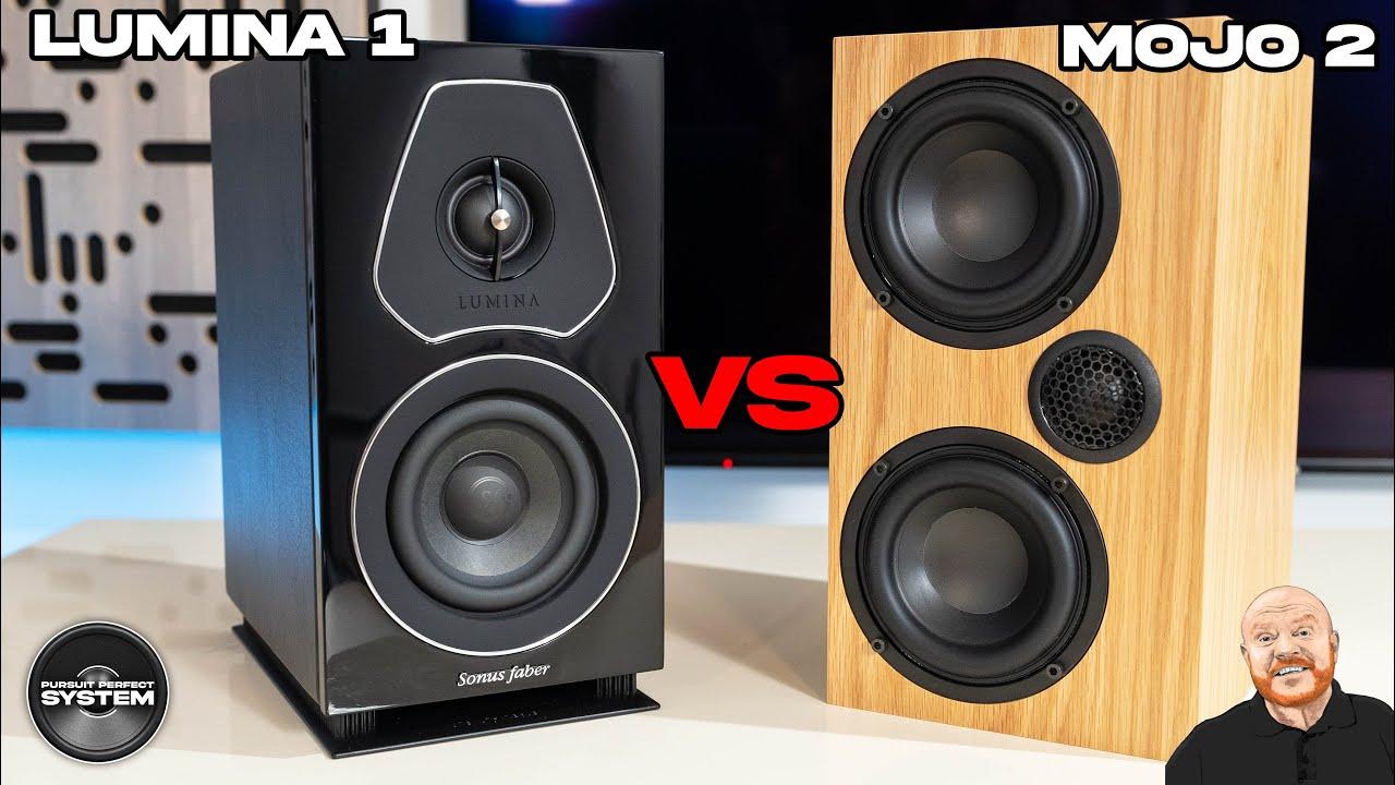 Sonus Faber Lumina 1 vs Ophidian Mojo 2 speakers review sound demo website comparison